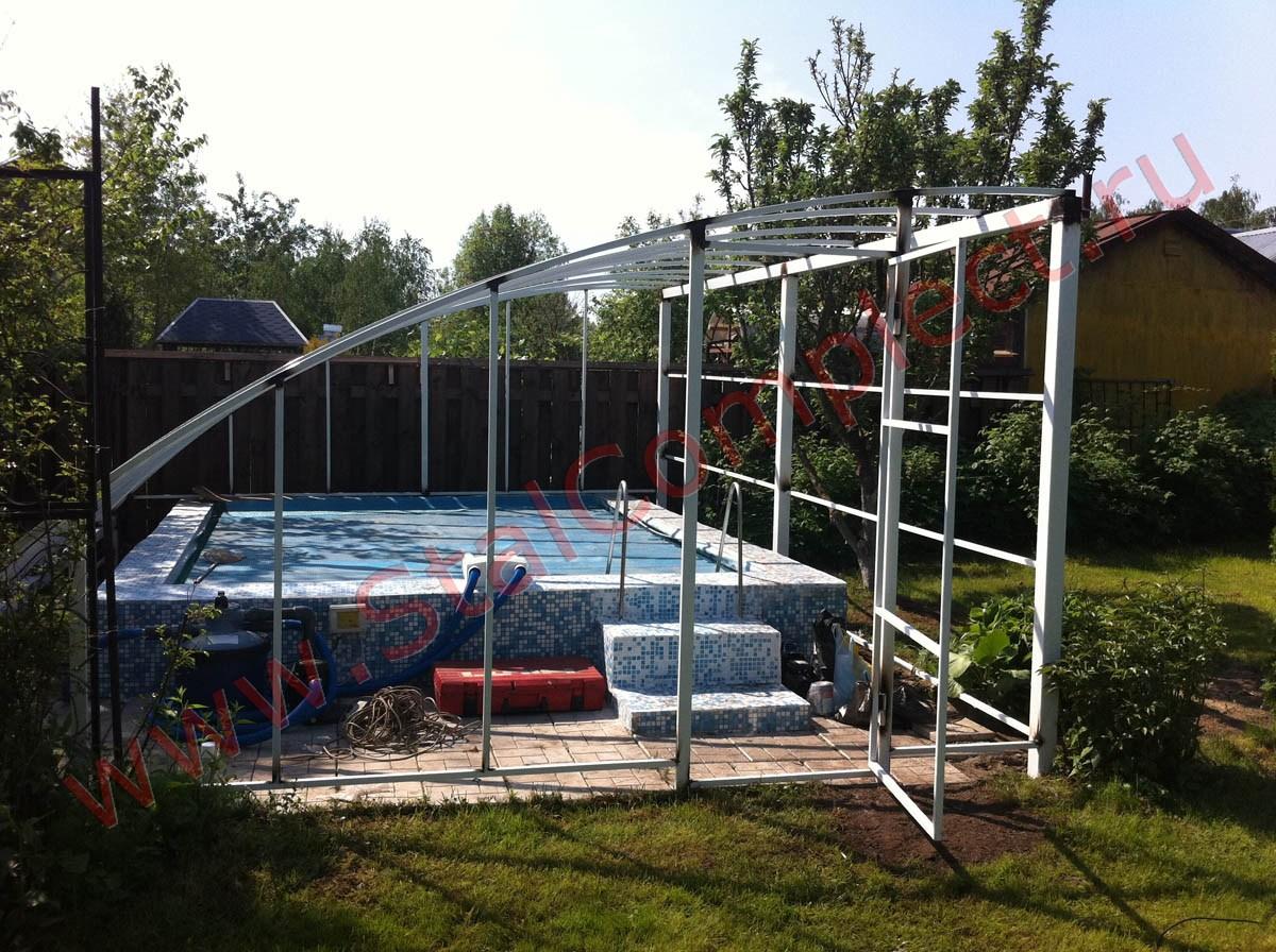 476Как построить навес для бассейна своими руками