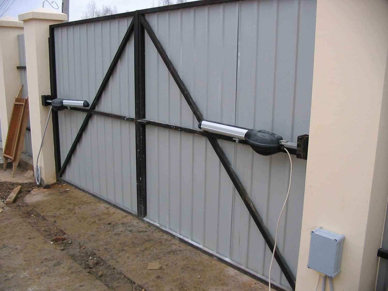 Как сделать чтобы ворота открывались наружу