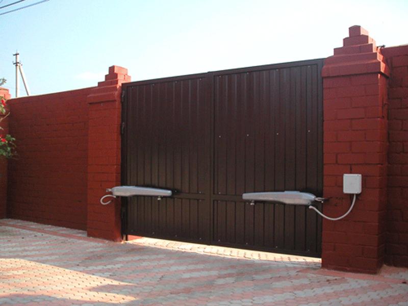 Автоматические распашные ворота в Томилино