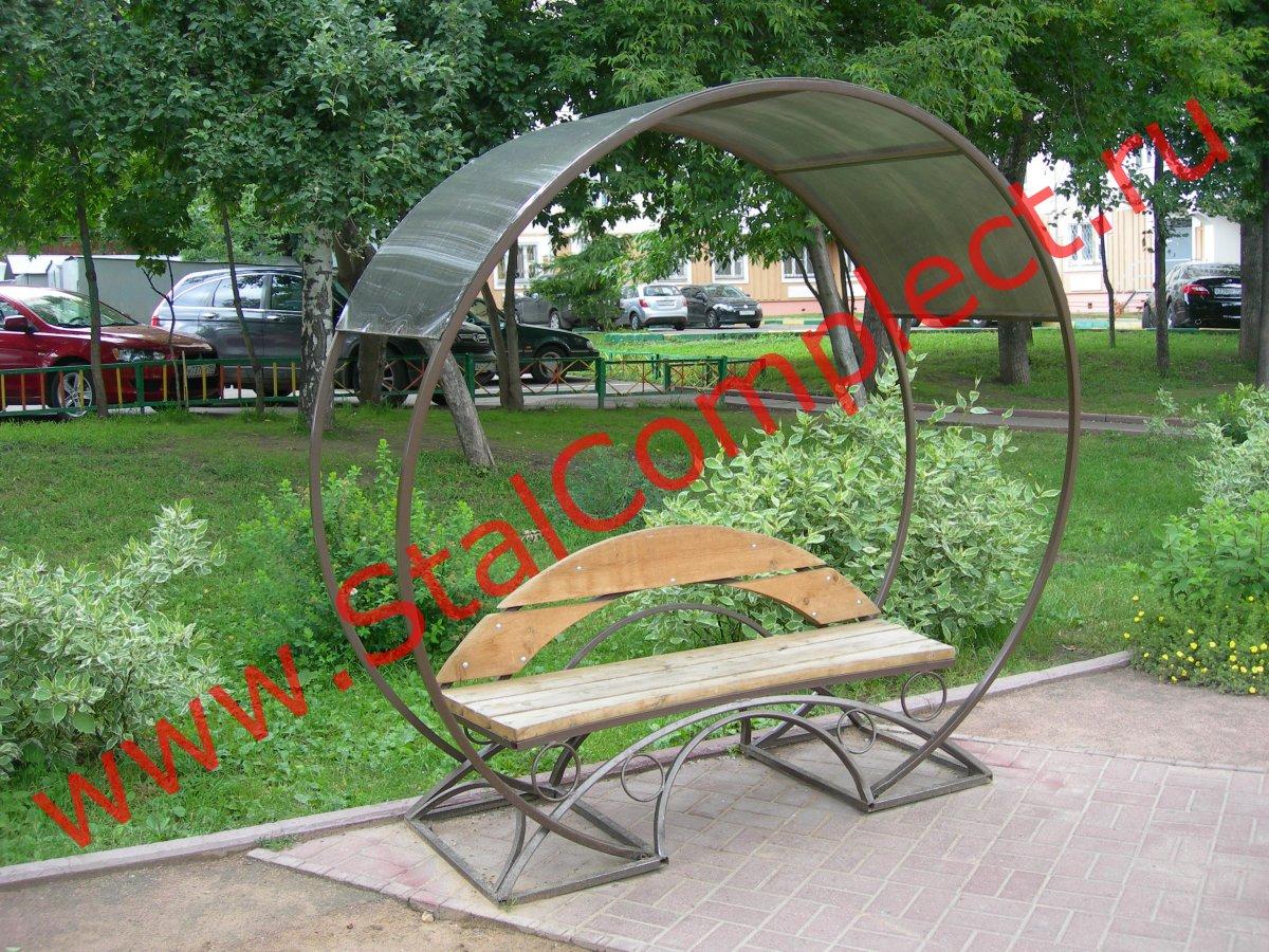 Фото скамеек из дерева 23